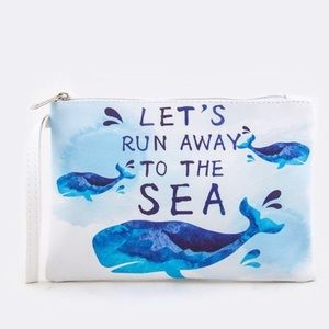 Let's run away 🐳 wristlet bags